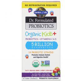 Garden of Life, Dr. Formulated Probiotics Organic Kids+ Shelf Stable, 30 Capsules