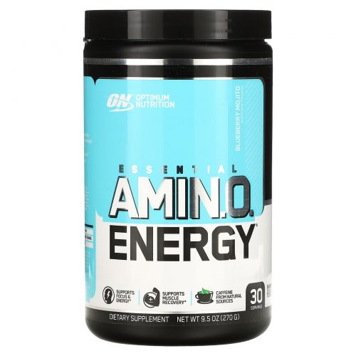 Optimum Nutrition, Essential Amino Energy, вкус черничного мохито, 270 г (9,5 унций)