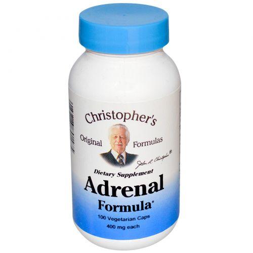 Christopher's Original Formulas, Формула для надпочечников, 400 мг, 100 капсул в растительной оболочке