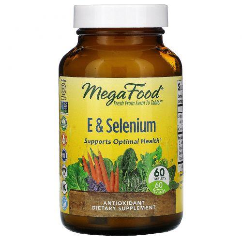 MegaFood, Витамин Е и Селен, 60 таблеток