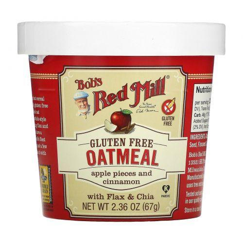 Bob's Red Mill, Овсянка, яблоки и корица, 67 г (2,36 унции)