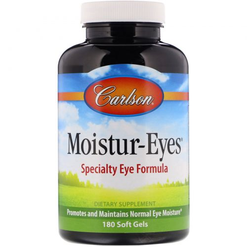 Carlson Labs, Средство для увлажнения глаз, 180 гелевых капсул