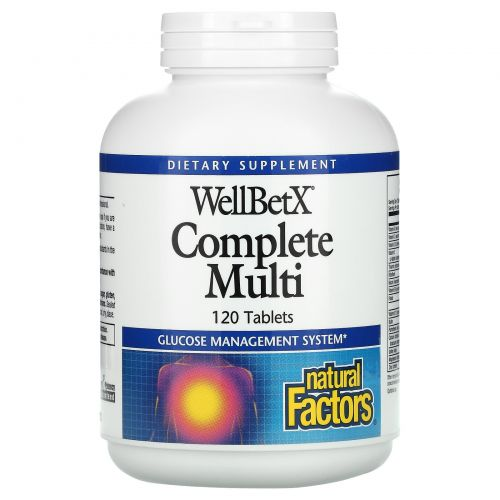 Natural Factors, Мультивитамины WellBetX Complete Multi, 120 таблеток