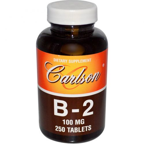 Carlson Labs, B-2, 100 мг, 250 таблеток