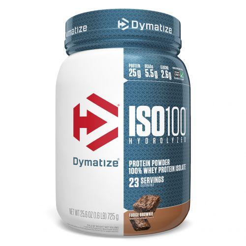 Dymatize Nutrition, ISO100 гидролизованный, 100% изолят сывороточного протеина, брауни