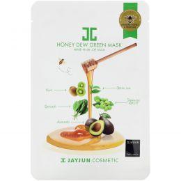 Jayjun Cosmetic, Зеленая маска с нектаром, 1 маска, 25 мл