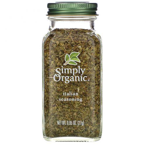 Simply Organic, Итальянская приправа, 0,95 унции (27 г)
