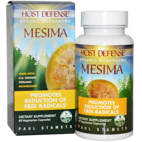 Fungi Perfecti, Host Defense, Mesima, 60 растительных капсул