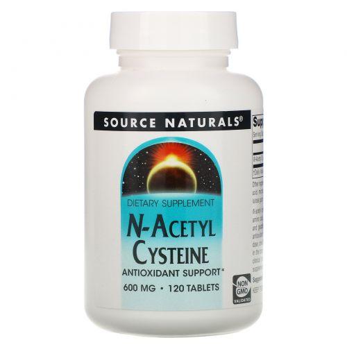 Source Naturals, N-ацетилцистеин, 600 мг, 120 таблеток