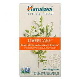 Himalaya Herbal Healthcare, Поддержка печени, 90 капсул в растительной оболочке
