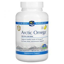 Nordic Naturals, Арктическая омега, лимонный вкус, 1000 мг, 180 мягких таблеток
