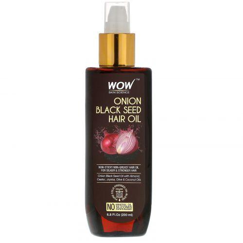 Wow Skin Science, масло семян лука и черного тмина для волос, 200мл (6,8жидк. унции)