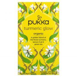 Pukka Herbs, Tumeric Glow Tea, 20 Tea Sachets, 1.27 oz (36 g)