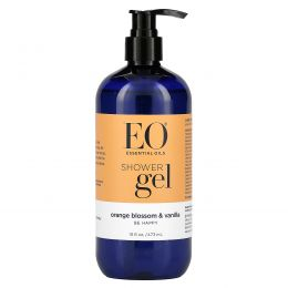 EO Products, Shower Gel, Orange Blossom & Vanilla, 16 fl oz (473 ml)