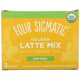 Four Sigmatic, Golden Latte, Mushroom Mix, 10 Packets, 0.21 oz (6 g) Each