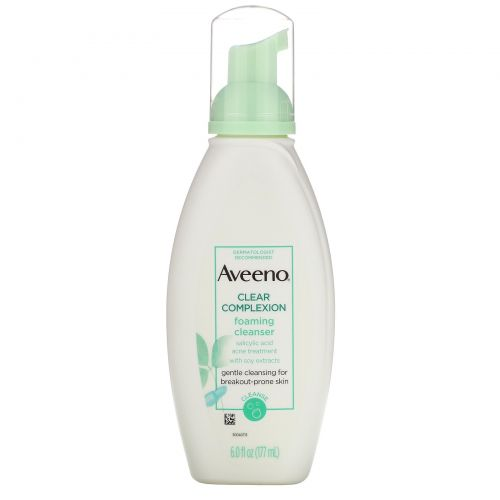 Aveeno, Active Naturals, Clear Complexion, Foaming Cleanser, 6 fl oz