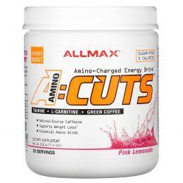 ALLMAX Nutrition, AMINOCUTS, Weight Loss BCAA+EAA, Taurine, CLA, Green Coffee, Pink Lemonade, 7.4 oz (210 g)