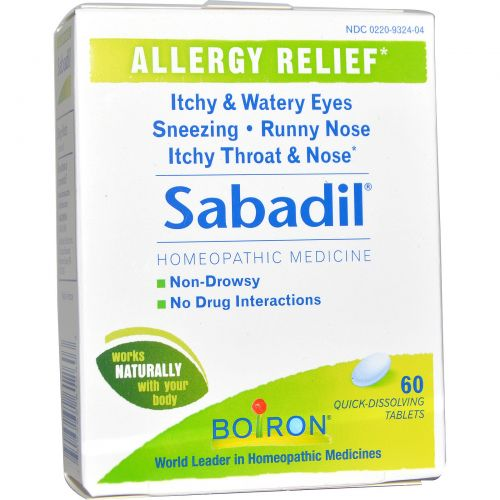 Boiron, Sabadil, 60 быстрорастворимых таблеток