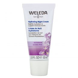 Weleda, Ирис, увлажняющий ночной крем, 1,0 жидкая унция (30 мл)