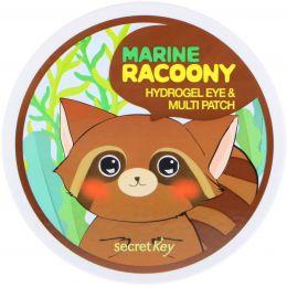 Secret Key, Marine Racoony Патчи для глаз и других зон с гидрогелем, 60 патчей