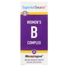 Superior Source, Women's B Complex, 60 MicroLingual Instant Dissolve Tablets