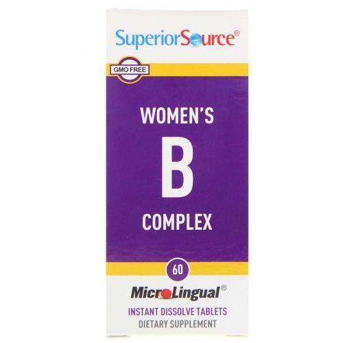 Superior Source, Комплекс витаминов группы B, 60 микролингвальных таблеток