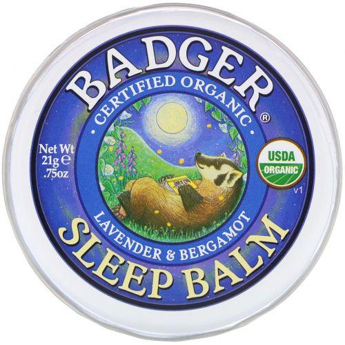 Badger Company, Бальзам перед сном, лаванда и бергамот, 0,75 унции (21 г)