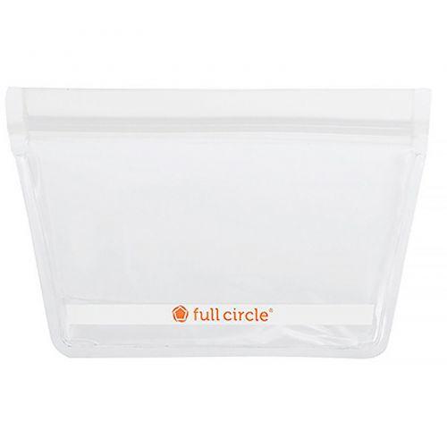 Full Circle, ZipTuck, многоразовые пакеты для закусок, прозрачные, 2 пакета