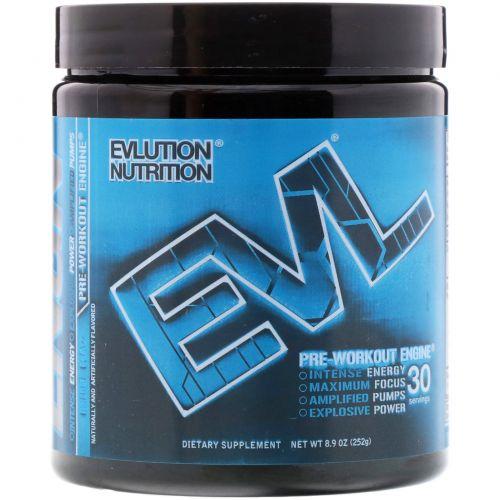 EVLution Nutrition, Предтренировочный Комплекс ENGN, Синяя  Кутерьма, 8,9 унции (252 г)