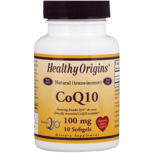 Healthy Origins, CoQ10, 100 mg, 10 Softgels
