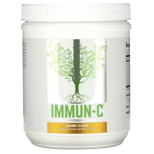 Universal Nutrition, Immun-C, Premium Vitamin C Powder, Orange Flavor, 9.5 oz (271 g)