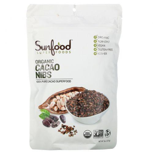 Sunfood, Ядра какао-бобов, 8 унций (227 г)