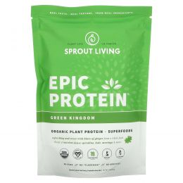 Sprout Living, Растительный протеин Epic Protein, Green Kingdom, 1 фунт (454 г)