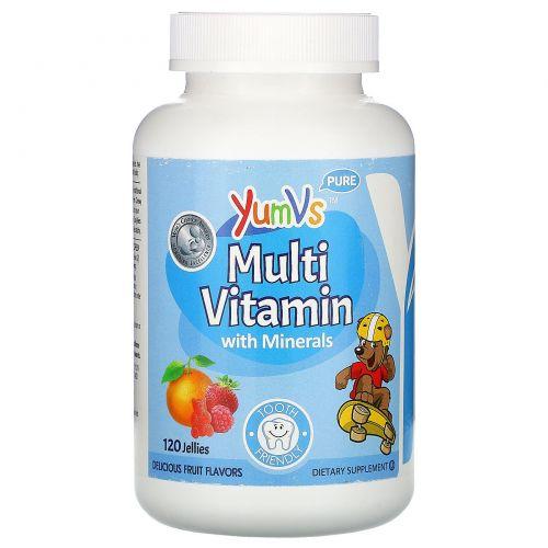 Yum-V's, Формула мультивитамины + минералы, Вкус восхитительных фруктов, 120 жевательных мишек