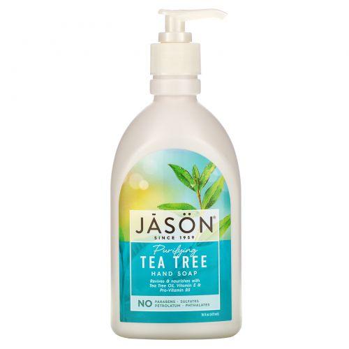Jason Natural, Мыло для рук с очищающим маслом чайного дерева, 16 жидких унций (473 мл)