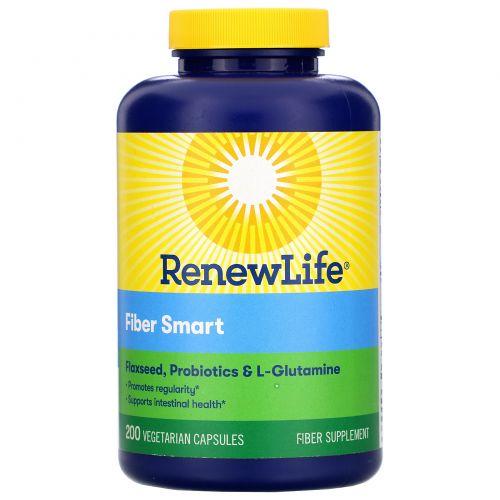 Renew Life, FiberSmart, 200 вегетарианских капсул