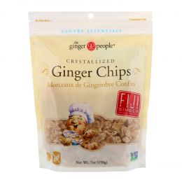 The Ginger People, Crystallized Ginger Chips, 7 oz (198 g)