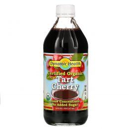 Dynamic Health  Laboratories, Сертифицирован как экологически чистый продукт, концентрат 100%-ного сока кислой вишни, неподслащенный, 16 жидких унций (473 мл)