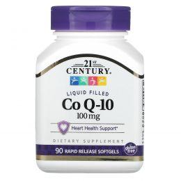 21st Century, Коэнзим Q-10, 100 мг, 90 гелевых капсул