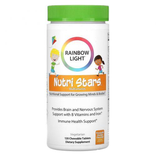 Rainbow Light, Nutri Stars, жевательные мультивитамины, фруктовый вкус, 120 жевательных таблеток