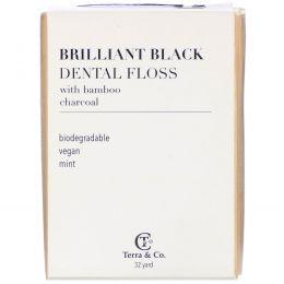 Terra & Co., Brilliant Black, зубная нить, 29,3 м (32 ярда)