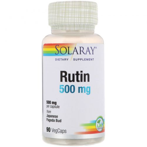 Solaray, Rutin, 500 mg , 90 VegCaps