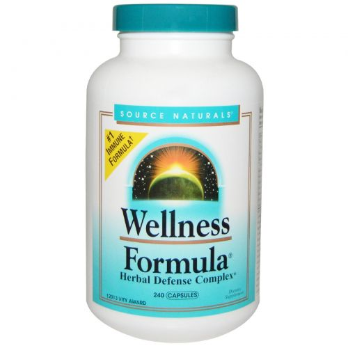Source Naturals, Wellness Formula, защитный комплекс трав, 240 капсул