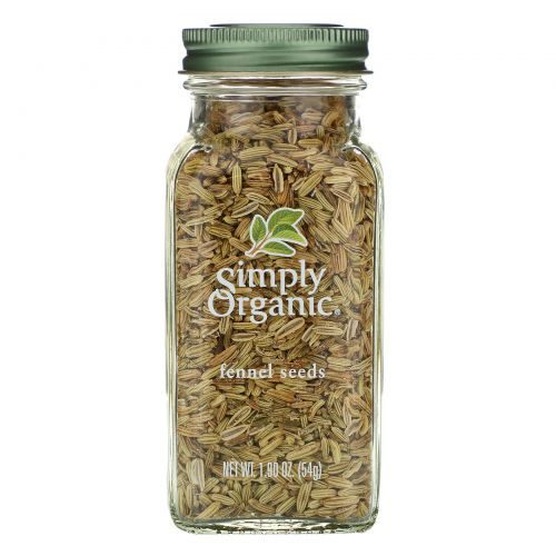 Simply Organic, Семена фенхеля, 1,90 унции (54 г)