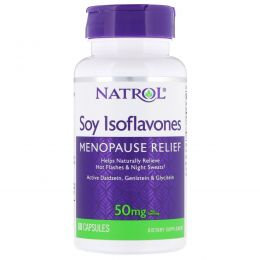 Natrol, Изофлавоны сои, 60 капсул