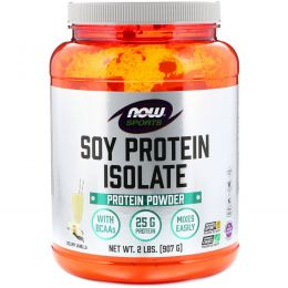 Now Foods, Sports, Soy Protein Isolate, Protein Powder, Creamy Vanilla, 2 lbs (907 g)
