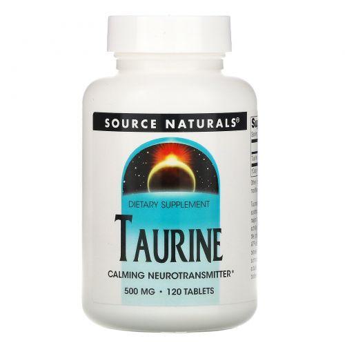 Source Naturals, Таурин, 500 мг, 120 таблеток