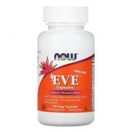 Now Foods, Eve, Мультивитамины для женщин в капсулах, без железа, 120 вегетарианских капсул