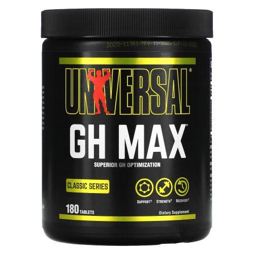 Universal Nutrition, GH Max, добавка для поддержания гормонов роста, 180 таблеток