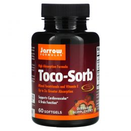 Jarrow Formulas, Toco-Sorb, Mixed Tocotrienols and Vitamin E, 60 Softgels
